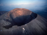 Aerial View over Mount Vesuvius Reveals its Gaping Crater, Naples, Italy Photographic Print by O. Louis Mazzatenta