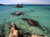 Sea Kayaking in Clear Water, Espiritu Santo, Baja California, Mexico Photographic Print by Kate Thompson