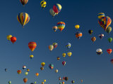 Hot Air Balloons Fly in a Hot Air Balloon Festival, Albuquerque, New Mexico, USA Photographic Print by Ralph Lee Hopkins
