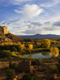 Peaceful Landscape Stretches to the Horizon, Santa Fe, New Mexico, USA Photographic Print by Ralph Lee Hopkins