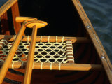 Wooden Paddles Inside a Canoe, California Photographic Print by Kate Thompson