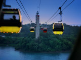 Cable Car to Sentosa Resort Island, a Popular Singaporean Place Photographic Print by  xPacifica