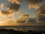 Sunset over Pacific Ocean in Hawaii, North Shore, Oahu Island, Hawaiian Islands Photographic Print by Charles Kogod