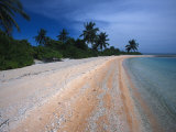 South Pacific Beach on an Open Ocean Atoll, Phoenix Islands Photographic Print by Nick Norman