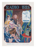 Radio Iris, Magazine Advertisement, France, 1924 Giclee Print