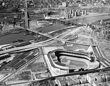 Yankee Stadium and Polo Grounds, New York City Print
