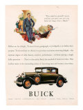 Buick, Magazine Advertisement, USA, 1929 Print