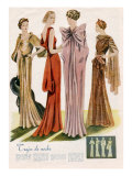 Spanish Fashion Evening Dresses, Spain, 1935 Prints
