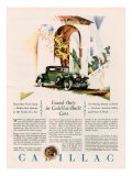 Cadillac, Magazine Advertisement, USA, 1928 Giclee Print