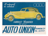 Auto Union Audi, Magazine Advertisement, USA, 1930 Prints