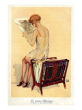 Woman reading, Magazine Advertisement, UK, 1920 Prints