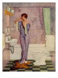 Woman in Bathroom, Magazine Advertisement , UK, 1930 Reproduction procédé giclée
