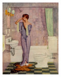 Woman in Bathroom, Magazine Advertisement , UK, 1930 Giclee Print