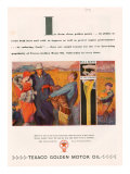 Texaco, Magazine Advertisement, USA, 1928 Giclee Print