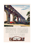Cadillac La Salle, Magazine Advertisement, USA, 1928 Reproduction procédé giclée