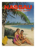 Nassau And Bahama Islands, Magazine Advertisement, UK, 1950 Giclee Print