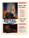 Royal, Magazine Advertisement, Spain, 1950 Giclee Print