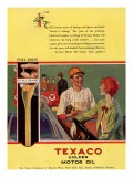 Texaco, Magazine Advertisement, USA, 1926 Giclee Print