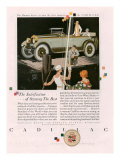 Cadillac, Magazine Advertisement, USA, 1925 Affiches