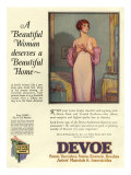 Devoe varnish, Magazine Advertisement, USA, 1920 Giclee Print