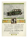 Pierce Arrow, Magazine Advertisement, USA, 1928 Prints