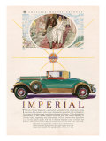 Imperial chrysler, Magazine Advertisement, USA, 1929 Posters