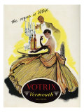 Votrix Vermouth, Magazine Advertisement, UK, 1951 Giclee Print