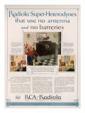 RCA Radiola, Magazine Advertisement, USA, 1926 Giclee Print