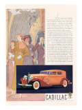 Cadillac, Magazine Advertisement, USA, 1933 Giclee Print