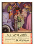 US Royal Cords, Magazine Advertisement, USA, 1924 Art