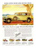 Buick Division of General Motors, Magazine Advertisement, USA, 1930 Art