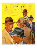 Dunlap, Magazine Advertisement, USA, 1950 Giclee Print