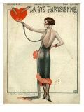 La Vie Parisienne, Magazine Cover, France, 1925 Giclée-tryk