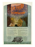 Underwood, Magazine Advertisement, USA, 1920 Giclee Print