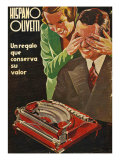 Hispano Olivetti, Magazine Advertisement, Spain, 1935 Posters