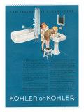 Kohler, Magazine Advertisement, USA, 1923 Giclee Print