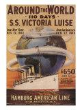 Hamburg American Line, Magazine Plate, USA, 1912 - Giclee Baskı