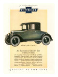 Chevrolet, Magazine Advertisement, USA, 1925 Giclee Print