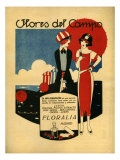 Floralia, Magazine Advertisement, Spain, 1919 Giclee Print