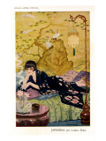 Woman relaxing, Magazine Plate, Spain, 1920 Giclee Print