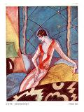Art Deco Woman, Magazine Plate, France, 1920 Art