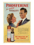 Phosferine, Magazine Advertisement, UK, 1950 Giclee Print