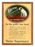 HMV Victor, Magazine Plate, UK, 1920 Giclee Print
