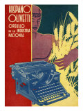 Hispano Olivetti, Magazine Advertisement, Spain, 1936 Art