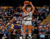 Larry Bird and Magic Johnson - ©Photofile Prints