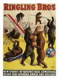 Ringling Bros, Poster, 1900 - Giclee Baskı