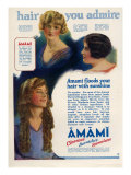 Amami Shampoos, Magazine Advertisement, UK, 1920 Giclee Print