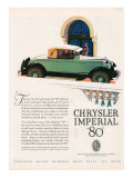 Chrysler Imperial, Magazine Advertisement, USA, 1927 Poster