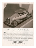 Chevrolet, Magazine Advertisement, USA, 1933 Posters