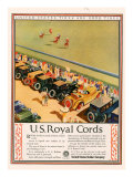US Royal Cords, Magazine Advertisement, USA, 1924 Giclee Print